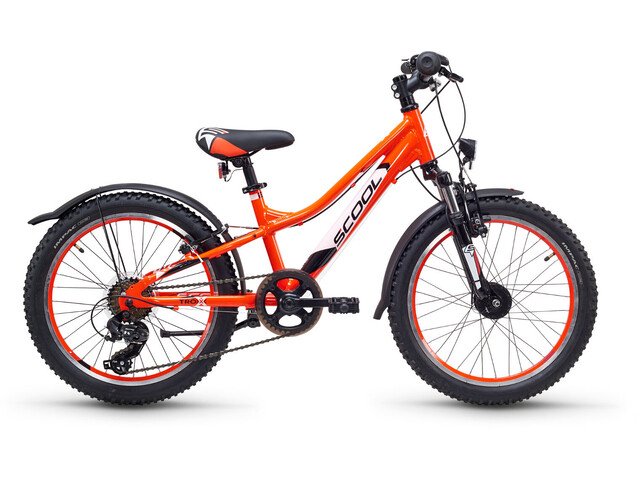 s'cool troX urban 20 7-S Børnecykel alloy orange